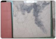 ПАУТИНКА 40х40х4 см (имитация мрамора) черно-белая