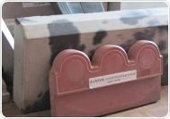 Фигурный бордюр 33х16х4,5 см красный