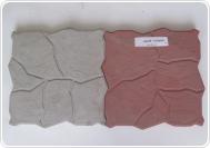 ДИКИЙ КАМЕНЬ 30х30х4 см серый и красный